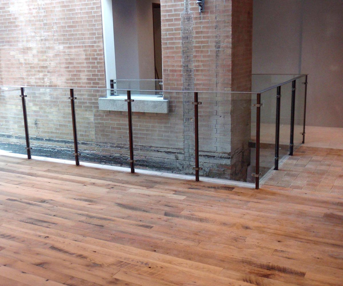 Anthropologie Retail: Custom handrail Fabrication Structural Steel - install
