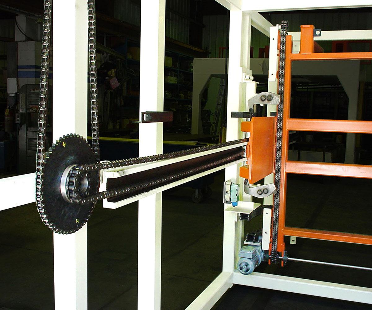Custom Rack Stacking Machine - Gears