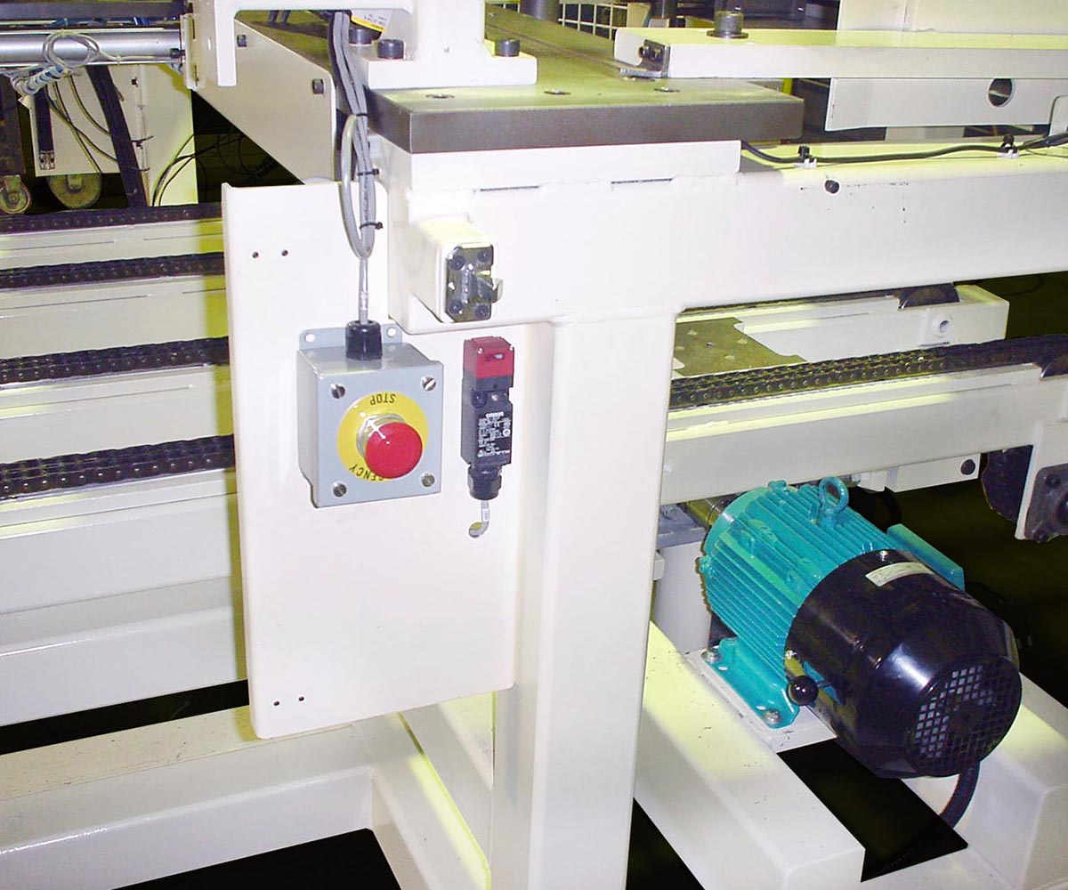 Custom Rack Stacking Machine - Stop Button