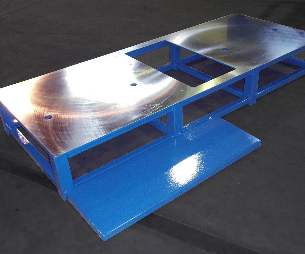 Custom Steel Weldment Fabrication - Blue