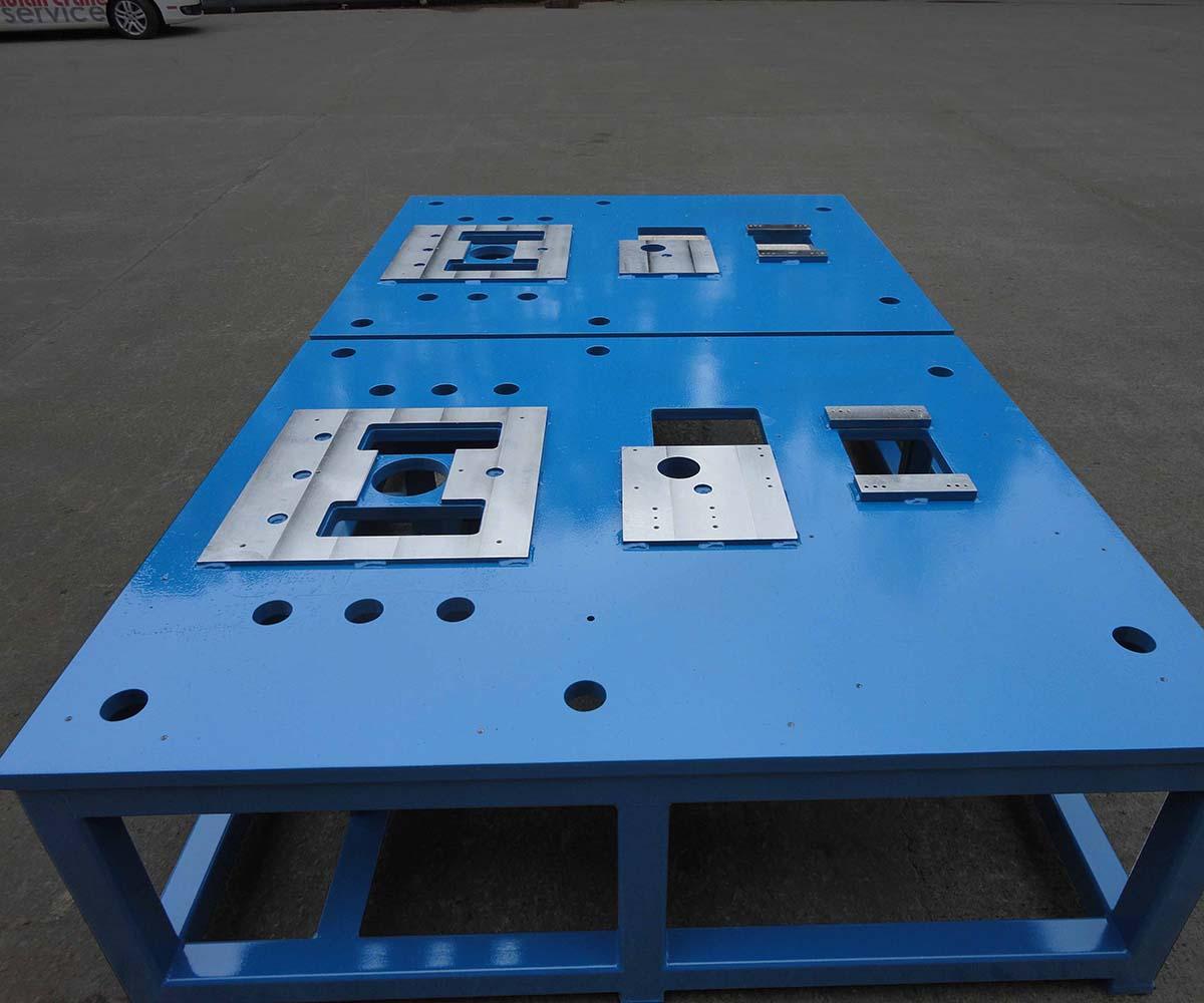 Custom Steel Weldment Fabrication - Detailed Blue