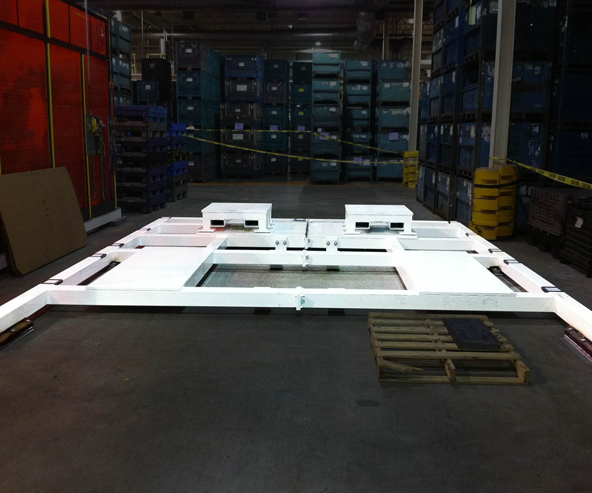 Custom Steel Weldment Fabrication - Factory installed
