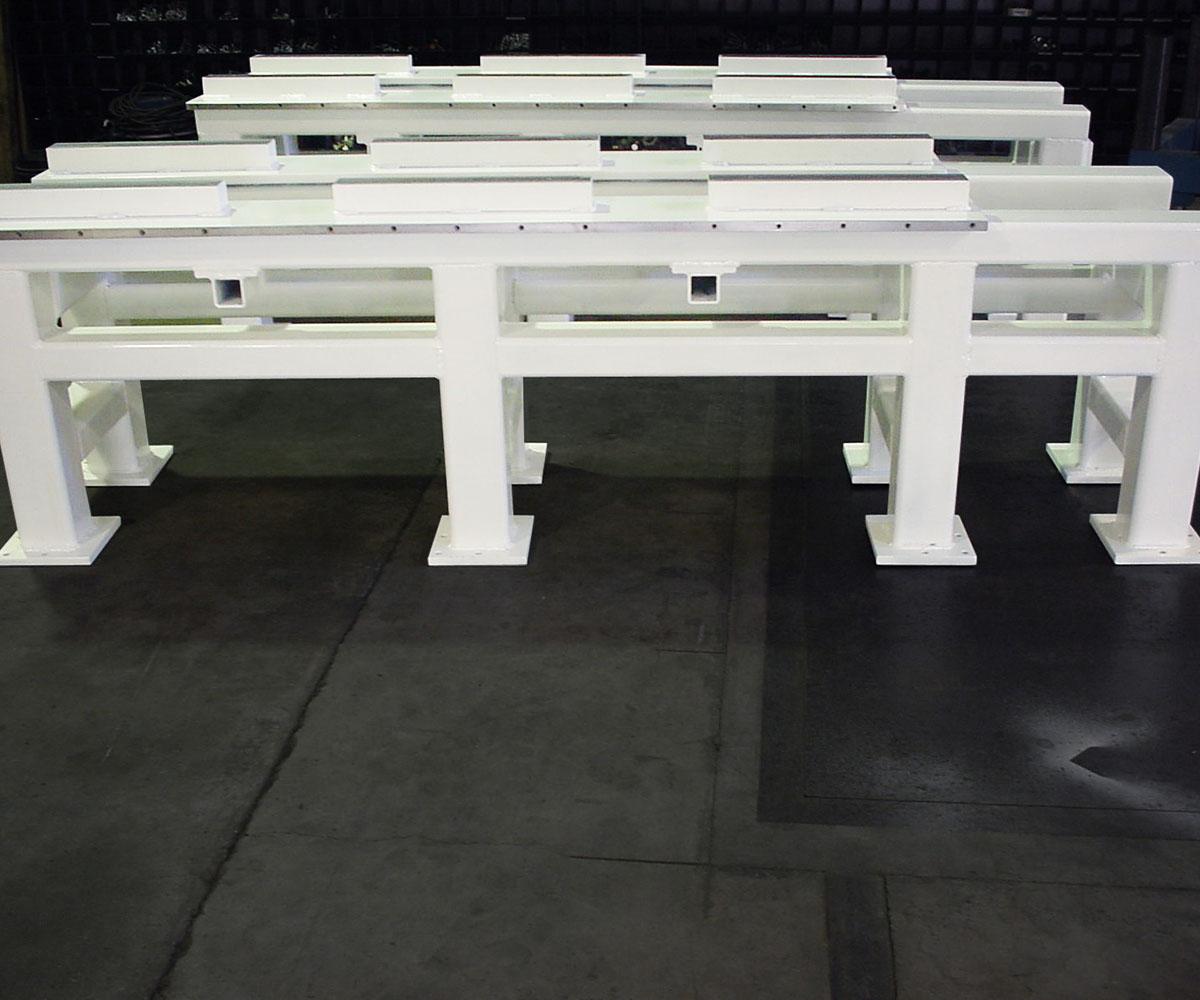 Custom Steel Weldment Fabrication - Multiple White