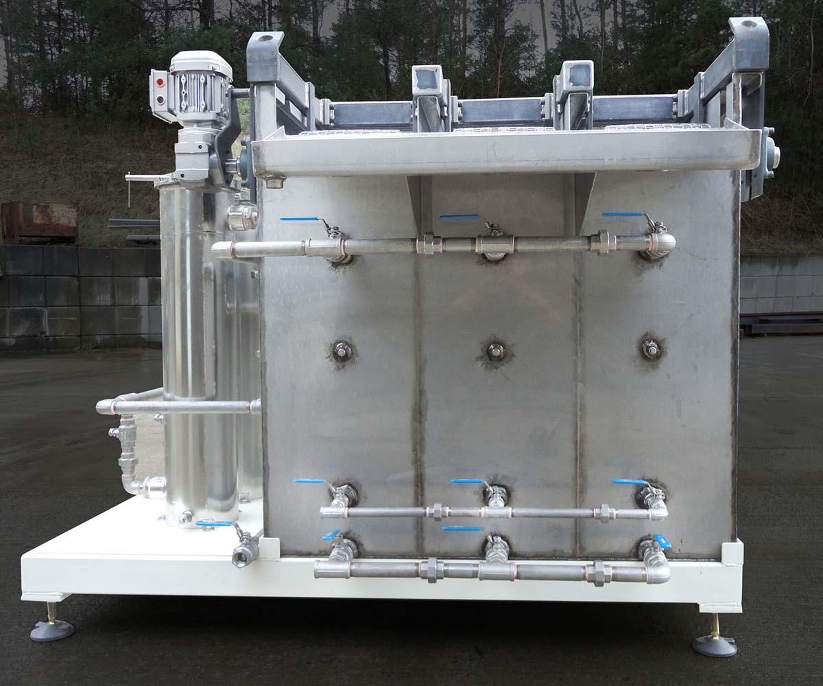 Parts Washer Custom Fabrication Side Profile