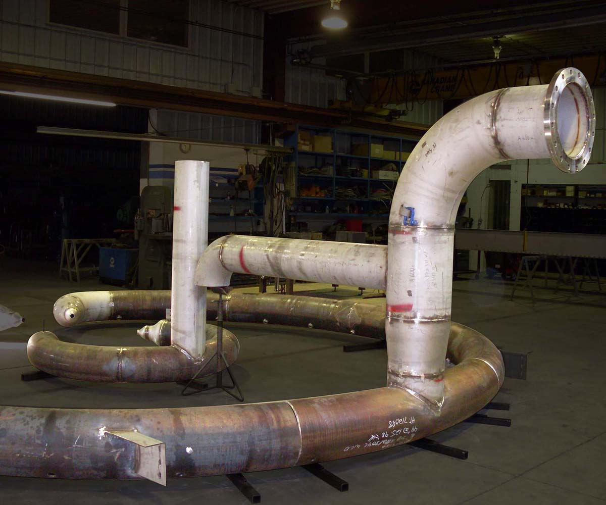 Stainless Steel Piping Fabrication System - Curved
